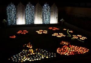 H270308竹燈絵・中庭